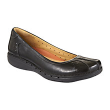 Buy Clarks Un Rosily Ballerinas, Black Online at johnlewis.com
