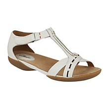Buy Clarks Raffi Magic Leather Sandals, White Online at johnlewis.com