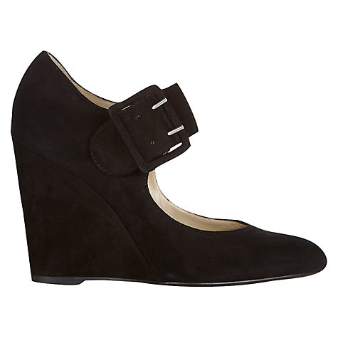 Buy Hobbs Imogen Wedged Court Shoes, Black Online at johnlewis.com