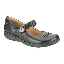 Buy Clarks Un Linda Loafers, Black Online at johnlewis.com