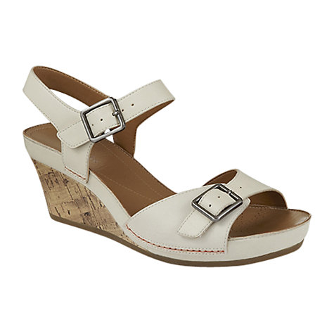 Buy Clarks Rusty Art Sandals, White Online at johnlewis.com