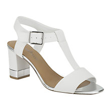 Buy Clarks Smart Deva Leather Sandals, White Online at johnlewis.com