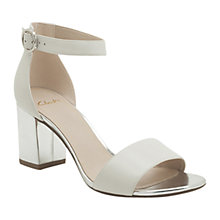 Buy Clarks Susie Deva Sandals, White/ Silver Online at johnlewis.com