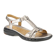 Buy Clark Un Swish Metallic Sandals, Silver Online at johnlewis.com