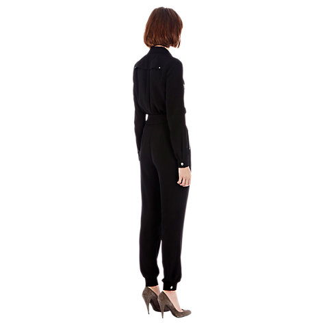 Buy Warehouse Zipped Boilersuit, Black Online at johnlewis.com