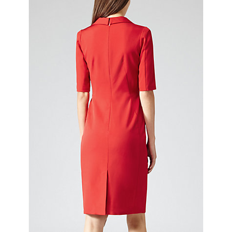Buy Reiss Angel Fitted Panel Dress, Bordeaux Online at johnlewis.com