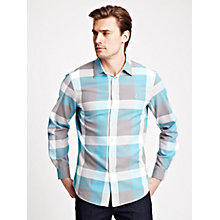 Buy Thomas Pink Tollemache Check Shirt, White/Blue Online at johnlewis.com