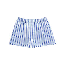 Buy Thomas Pink Northam Striped Boxers, Blue Online at johnlewis.com