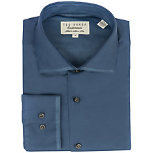 Buy Ted Baker Aldwych Cotton Shirt, Dark Blue Online at johnlewis.com