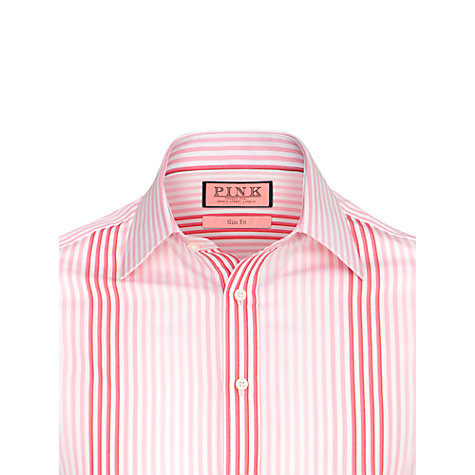 Buy Thomas Pink Noel Stripe Long Sleeve Shirt, Blue/White Online at johnlewis.com