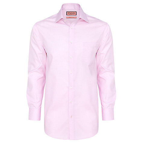 Buy Thomas Pink Burnett Long Sleeve Shirt, Pink Online at johnlewis.com
