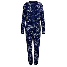 Buy John Lewis Anchor Print Onesie, Navy / Cream Online at johnlewis.com