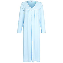 Buy John Lewis Pin Dot Nightdress, Duck Egg / Ivory Online at johnlewis.com