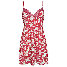 Buy John Lewis Bridgette Floral Chemise, Red Online at johnlewis.com