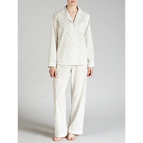 Buy John Lewis Paisley Pyjama Set, White / Grey Online at johnlewis.com