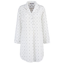 Buy John Lewis Dobby Spot Nightshirt, Cream / Grey Online at johnlewis.com