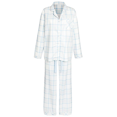 Buy John Lewis Angel Falls Woven Pyjama Set, Blue / Ivory Online at johnlewis.com