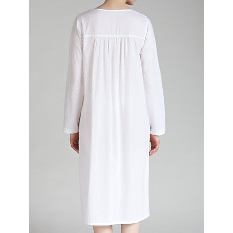 Buy John Lewis Long Cotton Nightdress, White Online at johnlewis.com