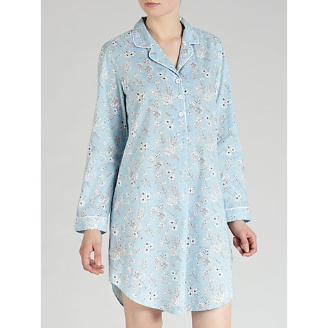 Buy John Lewis Bridgette Floral Nightshirt, Blue / Multi Online at johnlewis.com