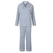 Buy John Lewis Carrie Woven Check Pyjama Set Online at johnlewis.com