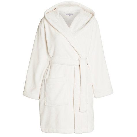 Short hood dressing gown
