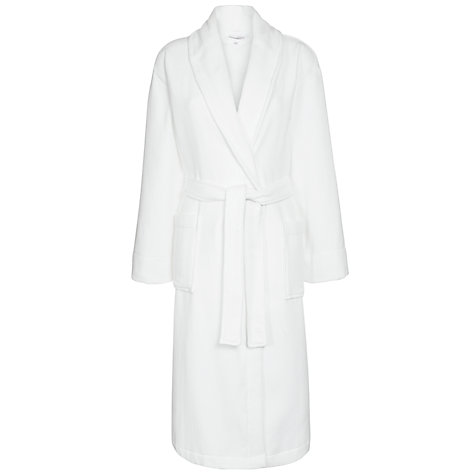Buy John Lewis Spa Waffle Robe, White Online at johnlewis.com
