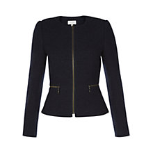 Buy Hobbs Persephone Jacket, Navy Online at johnlewis.com