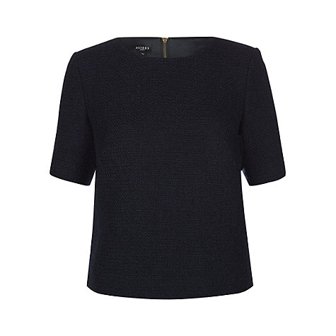 Buy Hobbs Prue Top, Navy Online at johnlewis.com