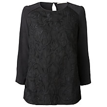 Buy Gérard Darel Embroidered Blouse, Black Online at johnlewis.com