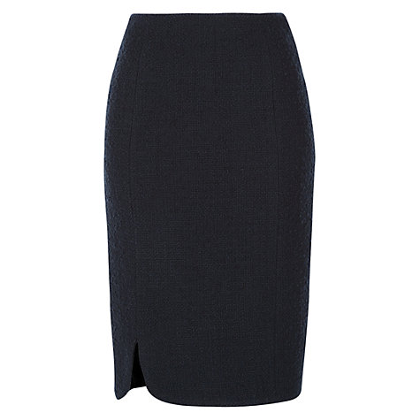 Buy Hobbs Prue Skirt, Navy Online at johnlewis.com