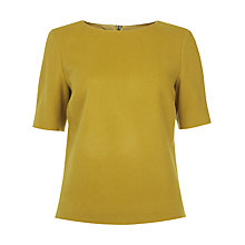 Buy Hobbs Penny Top, Mustard Online at johnlewis.com