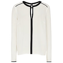 Buy Reiss Delphine Silk Top, White Online at johnlewis.com