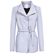 Buy Reiss Warwick Belted Coat, Sky Blue Online at johnlewis.com