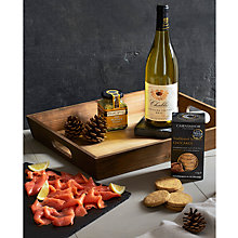Buy John Lewis Salmon & Chablis Wooden Tray Fresh Hamper Online at johnlewis.com