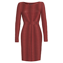 Buy allegra by Allegra Hicks Kylie Dress, Herringbone Rust Online at johnlewis.com