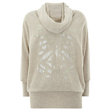Buy Mint Velvet Sequin Jumper, Green Online at johnlewis.com