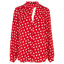 Buy Oasis Clover Print Shirt, Red Online at johnlewis.com