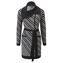 Buy Viyella Diagonal Stripe Coatigan, Graphite Online at johnlewis.com