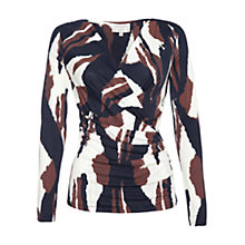 Buy allegra by Allegra Hicks Mila Top, Ikat Texture Brown Online at johnlewis.com
