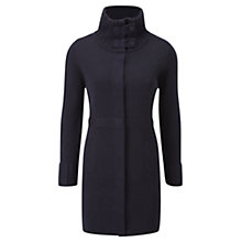 Buy Viyella Rib Collar Coatigan, Navy Online at johnlewis.com