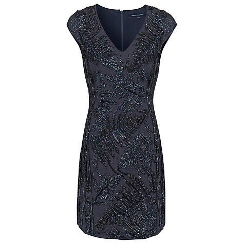Buy French Connection Cap Sleeve Dress, Mercury Online at johnlewis.com