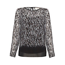 Buy allegra by Allegra Hicks Ellie Top, Brushed Animal Online at johnlewis.com