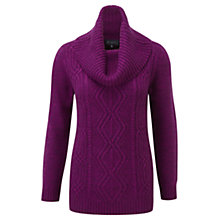 Buy Viyella Cable Knit Jumper, Fuchsia Online at johnlewis.com
