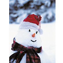 Buy CCA Personalised Frosty Snowman Charity Christmas Cards Online at johnlewis.com
