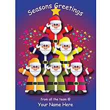 Buy CCA Personalised From All The Team Charity Christmas Cards Online at johnlewis.com