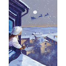 Buy CCA Personlised Santa On His Way Charity Christmas Cards Online at johnlewis.com