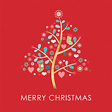 Buy CCA Personalised Christmas Craft Tree Charity Christmas Cards Online at johnlewis.com