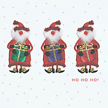 Buy CCA Personalised Three Santas Charity Christmas Cards Online at johnlewis.com