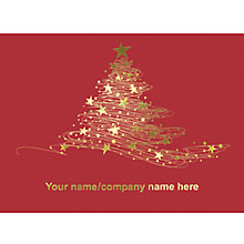 Buy CCA Personalised Starry Tree Charity Christmas Cards Online at johnlewis.com