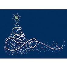 Buy CCA Personalised Silver Swirl Charity Christmas Cards Online at johnlewis.com